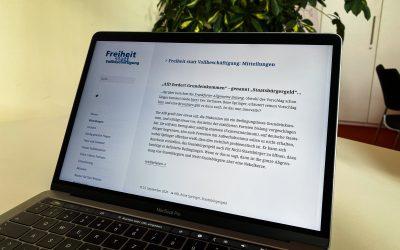 """Netz bGE: """"AfD fordert Grundeinkommen – genannt 'Staatsbürgergeld'…"""""""